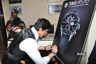 SRK launches Tag Heuer boutique
