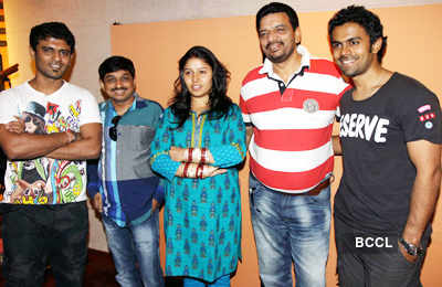 Sunidhi Chauhan @ song recording