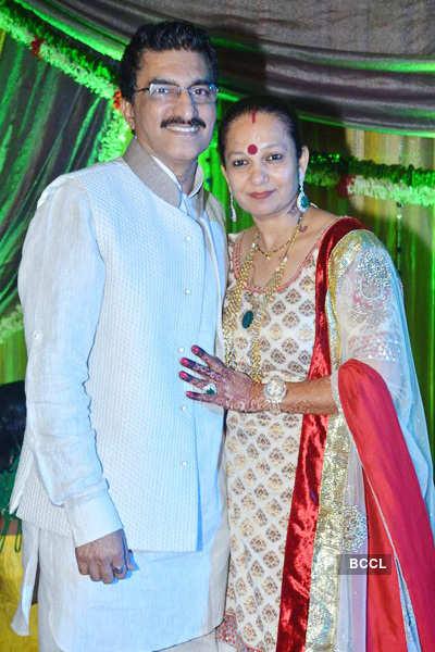 Suraj Godambe's sangeet ceremony