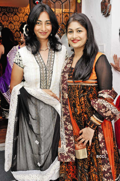 Celebs at a fashionable party