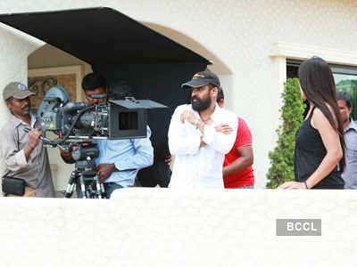 On the sets: 'Aadhi Baghavan'