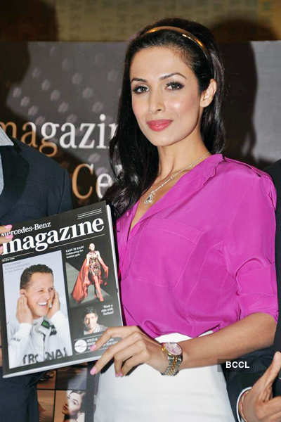 Malaika, Shobhaa @ mag launch