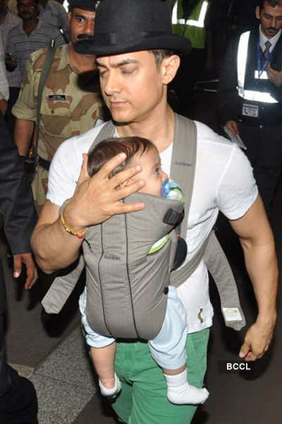 Aamir with baby Azaad