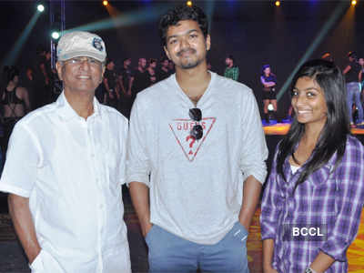 Vijay on the sets of a movie