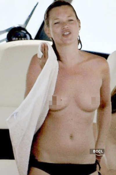 Topless Kate Moss in France