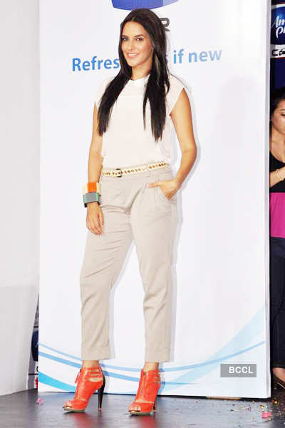 Neha promotes 'Ambi Pur'