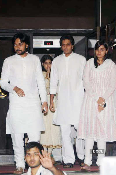 Vilasrao Deshmukh's prayer meet