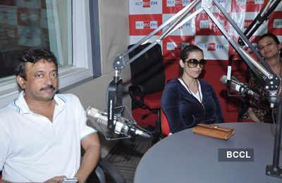 RGV, Manisha promote 'Bhoot Returns'