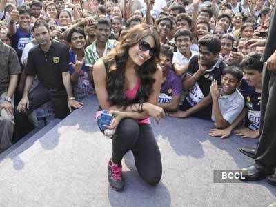 Bipasha Basu at a fitness event
