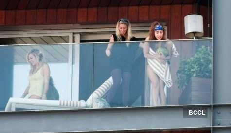 Lady Gaga caught topless