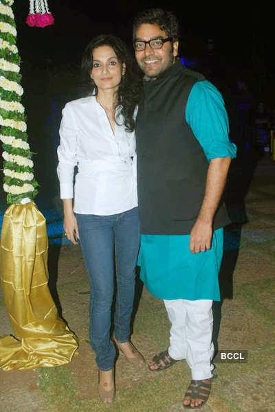 Ashutosh Rana's b'day party