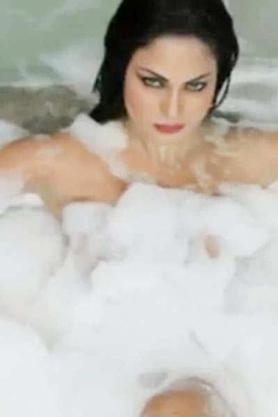 Veena Malik's bathtub act