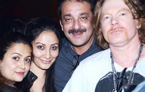 Bollywood celebs party with Guns N' Roses