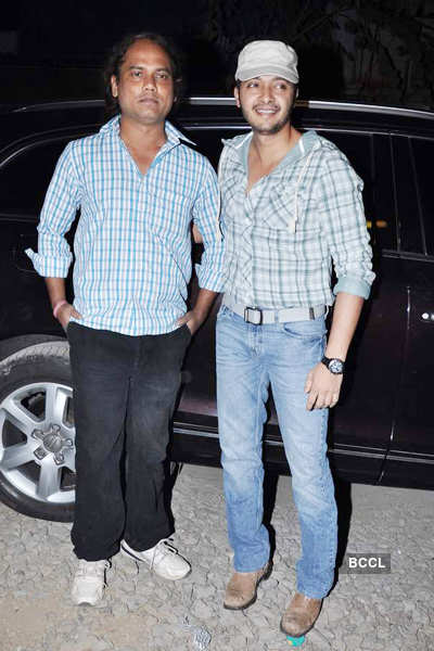 Shreyas spotted @ music launch