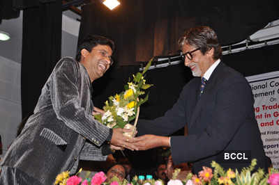 Big B at University event