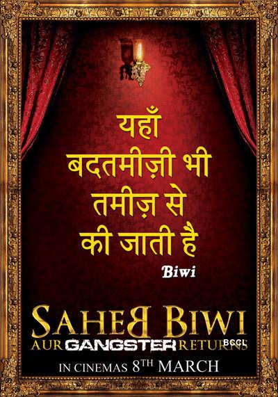 'Saheb Biwi Aur Gangster Returns'