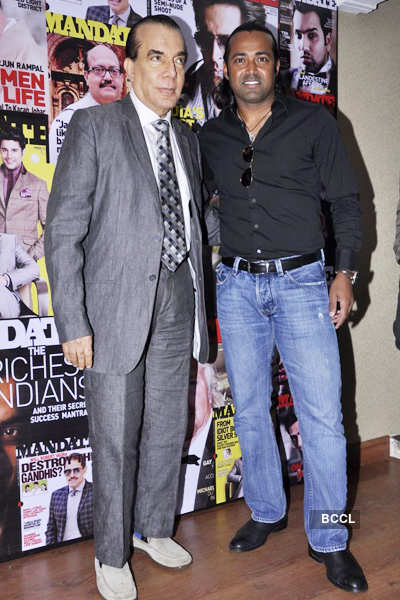 Leander attends mag launch
