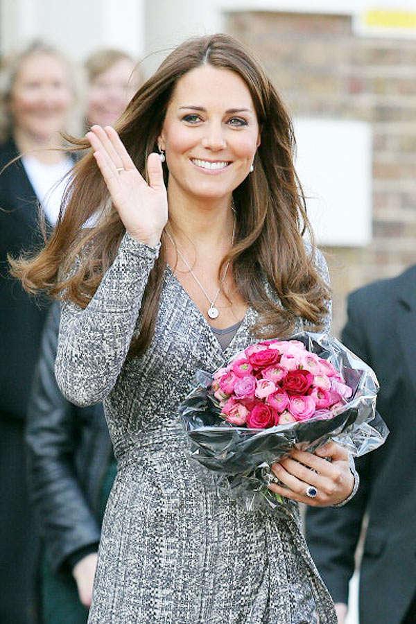 Catherine, Duchess of Cambridge revealed her baby bump