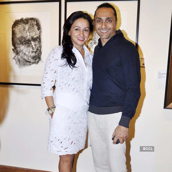 Akbar Padamsee's art exhibition