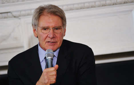 Harrison Ford talks about new movie '42'