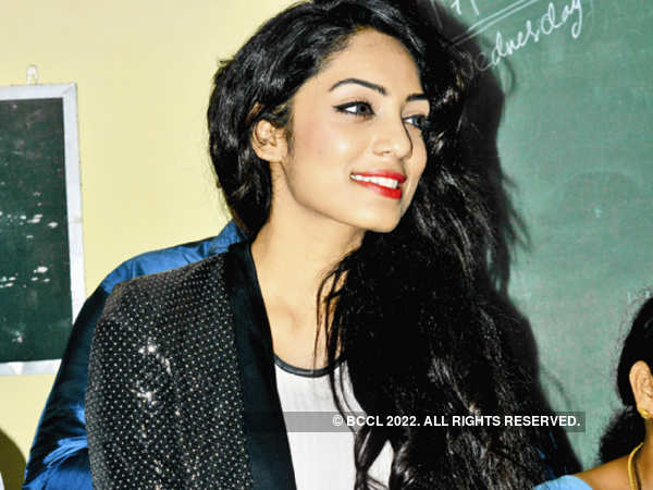 Sobhita Dhulipala spends good time at Visakha Valley school. She interacts with students and teacher and signs autographs.
