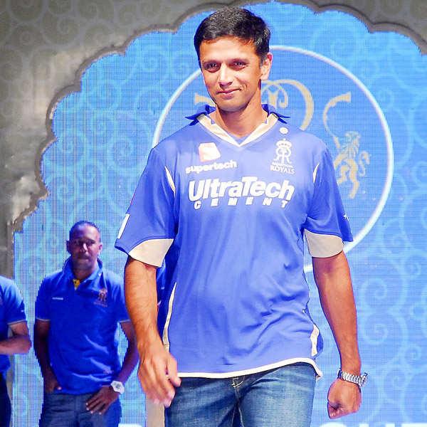 Cricketers walk the ramp