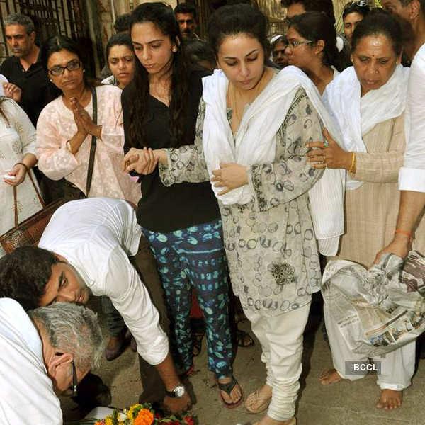 Jagdish Mali's funeral