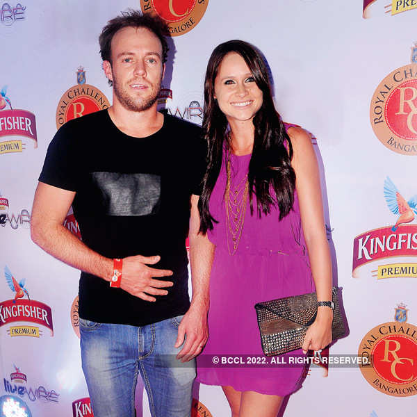 RCB cricketers at a club