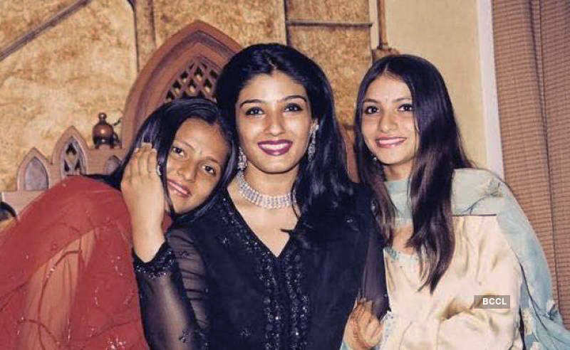 Raveena Tandon adopted two girls, Chhaya and Pooja in 1995, much ...