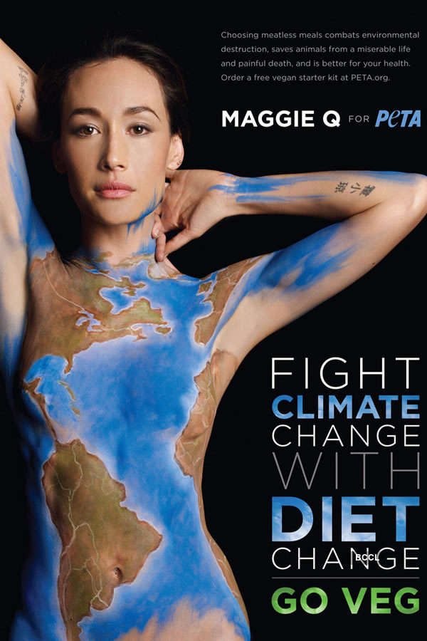 Celebs pose for PETA