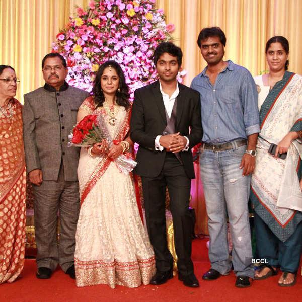 GV Prakash & Saindhavi's reception