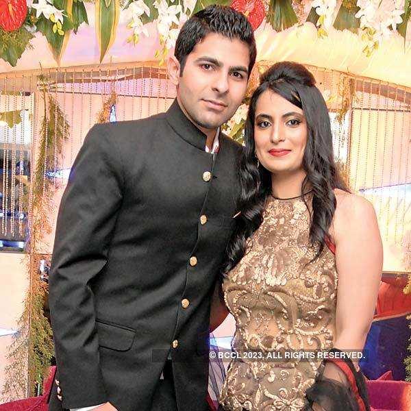 Prerana, Neeraj Hirwani's wedding party