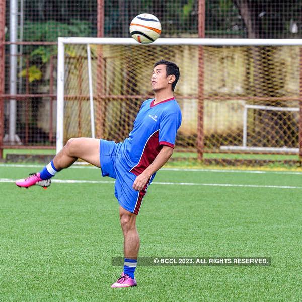 John, Baichung @ friendly football match