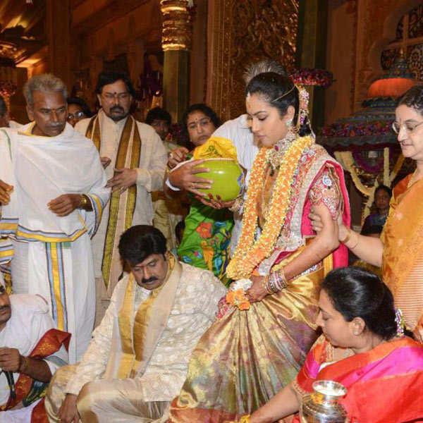 Balakrishna's daughter Tejaswini weds Sribharat