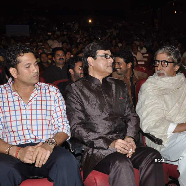 Big B, Sachin at a book launch