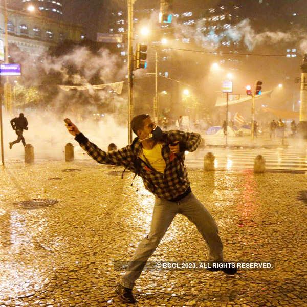 Demonstrations turn violent in Brazil