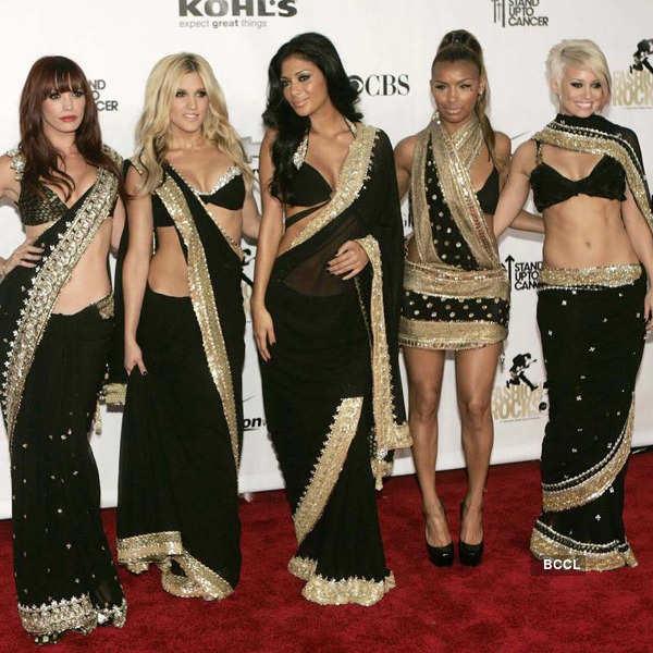 Firang Divas in Saree