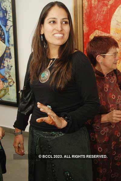 Ompal's art exhibition