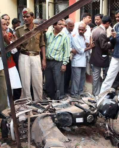 Bomb blasts in U.P.