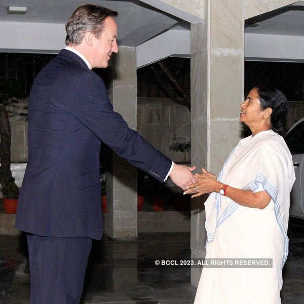 David Cameron meets Mamata Banerjee