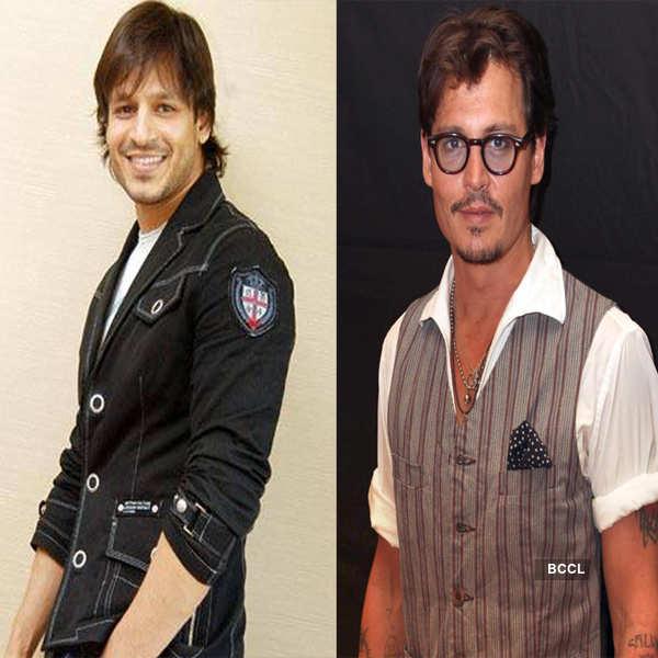 Vivek Oberoi and Johnny Depp