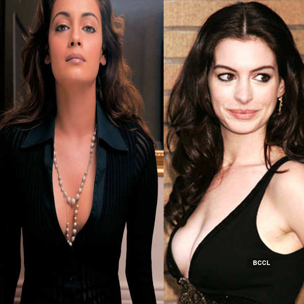 Dia Mirza and Anne Hathaway