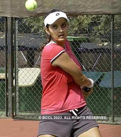 Sania Mirza's training session