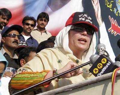 Benazir at poll rally