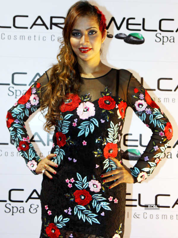 Celebs attend spa launch