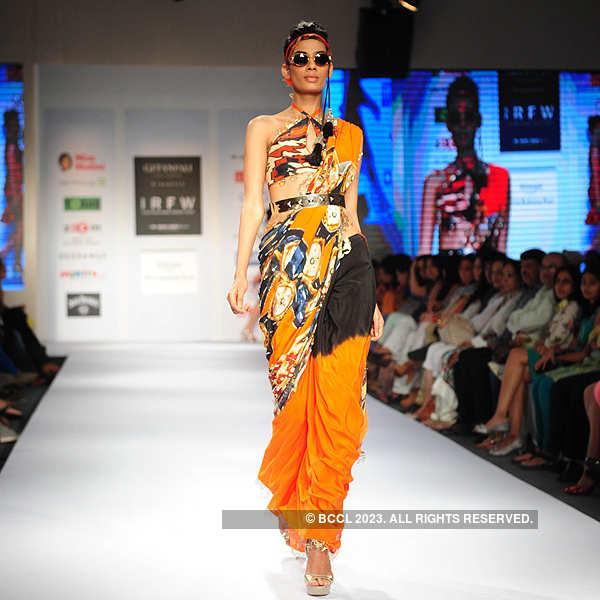 Sony Kaur Showcases A Creation By Designer Pria Kataria Puri During India Resortwear Fashion Week 2013 Held At Jw Marriott In Mumbai