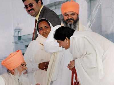 Mayawati at Varanasi