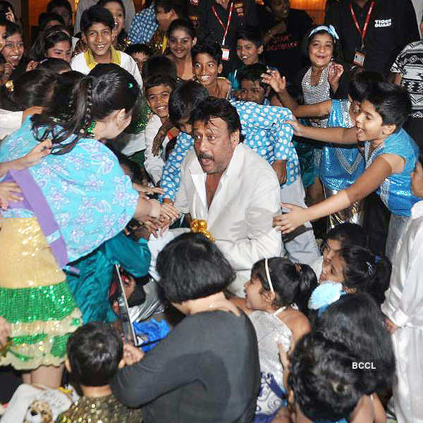 Celebs attend Police kids event