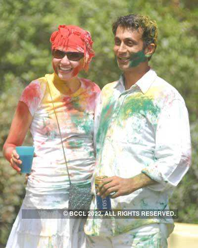 Vineet Jain's Holi Party 2008 -4