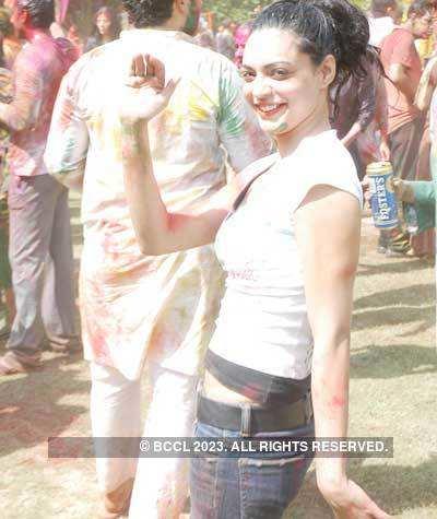Vineet Jain's Holi Party 2008 -1